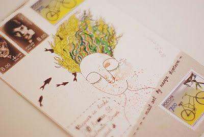 FISH MAIL ART: мэйл-арт конверты, объекты и открытки наси коптевой и саши браулова: for postal art trinidad  & tobago-2012