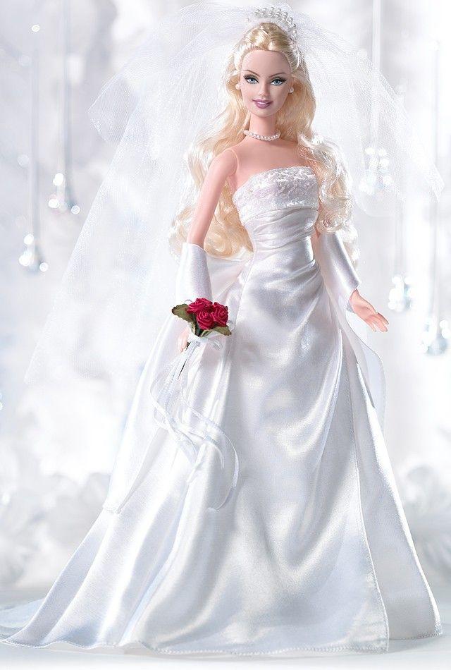 164 best dolls bride images on pinterest barbie bridal for How to make a barbie wedding dress