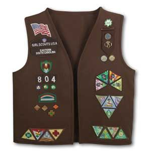 OFFICIAL GIRL SCOUT BROWNIE VEST