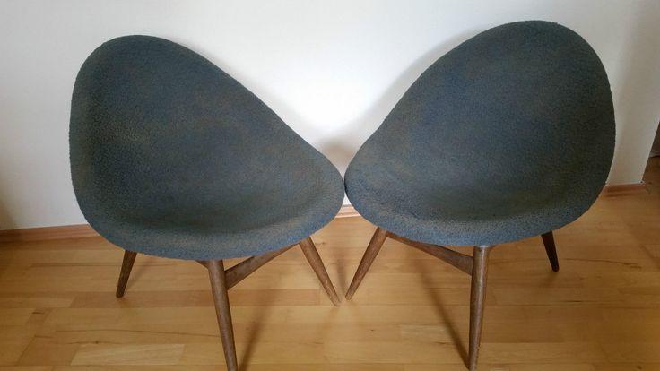 Egg lounge chairs by Miroslav Navratil for Cesky Nabytek 1960 | eBay