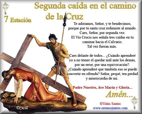 Imágenes de Cecill: Estaciones del Via Crucis † 7- Segunda caída en el Camino de la Cruz