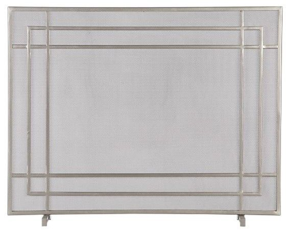 Alton II Pewter Fireplace Screen modern fireplace accessories - Crate &  Barrel - 17 Best Images About Fireplace On Pinterest Stained Concrete, Tv