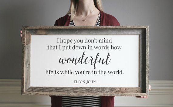 How Wonderful Life Is While You Re In The World Elton John Lyrics