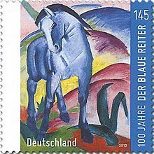 100th anniversary postage stamp, Germany (2012)  Der Blaue Reiter - Wikipedia, the free encyclopedia