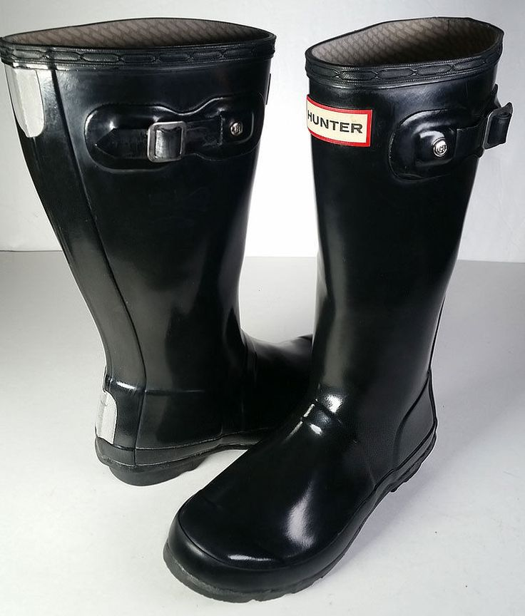 $80 Hunter Original Kids Gloss Black Rain Boots Kid Size 3 Girls *LOVELY*  #Hunter #RainBoot