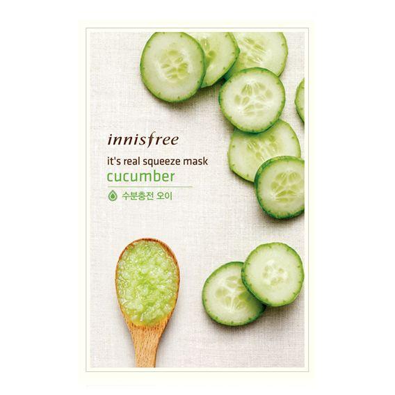 Inninsfree - It's real squeeze Mask Sheet cucumber @ Sheet Happens