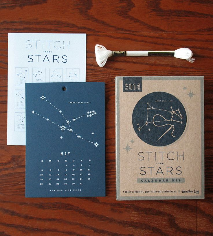 Stitch The Stars 2014 Calendar Kit | Gifts Cards & Stationery | Heather Lins Home | Scoutmob Shoppe | Product Detail