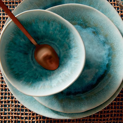 Reactive Glaze Dinnerware Set | west elm