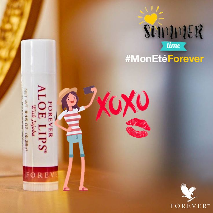 #soothe , #moisturize your chapped lips with Forever Aloe Lips