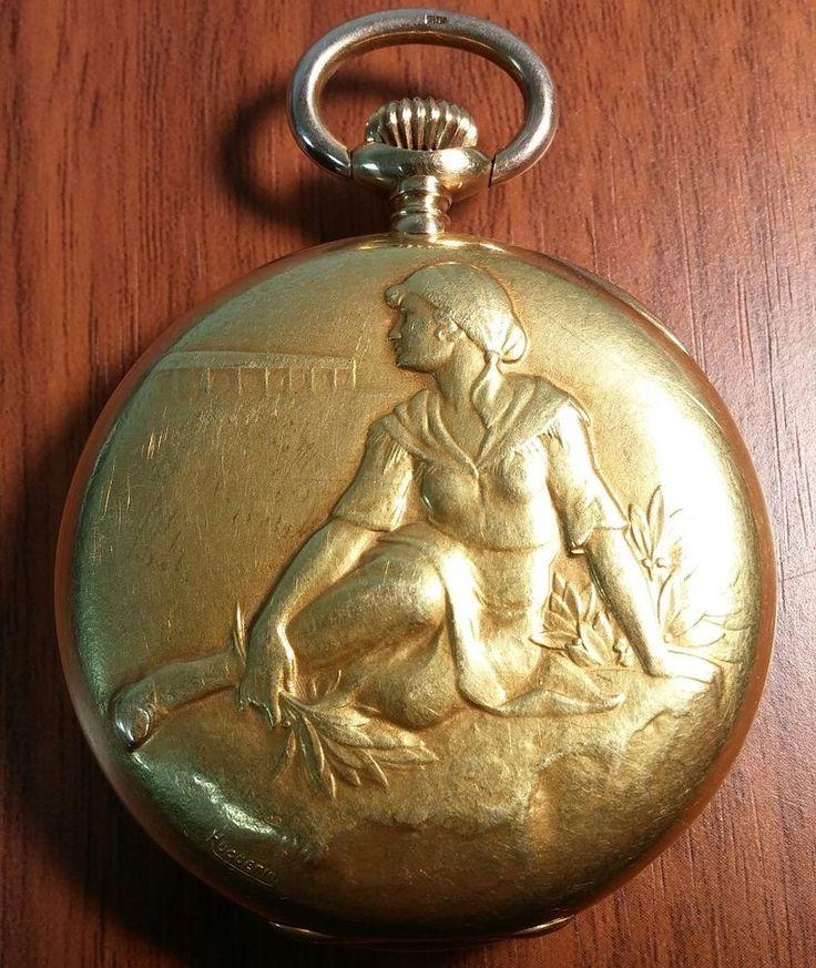 *Spectacular* 18k Solid Gold 1929 Ulysse Nardin Swiss Pocket Watch 49mm Original | eBay