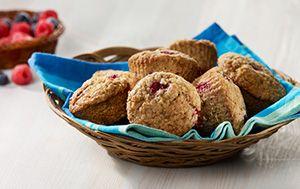 Muffins aux petits fruits des champs   Recettes saines pour les boîtes à lunch   Tremplin Santé