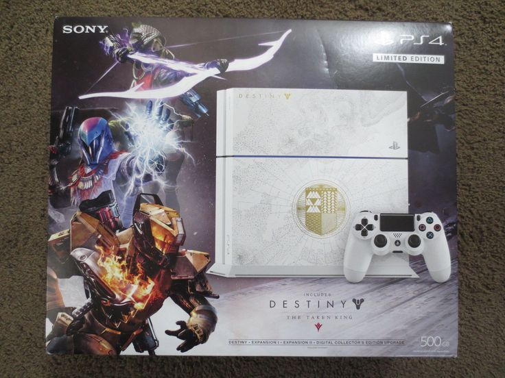NEW Sony PlayStation 4 Destiny: The Taken King Edition 500gb Console PS4 System: $374.90 End Date: Sunday Mar-25-2018 12:10:22 PDT Buy It…