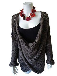 crochet sweater; gorgeous, half trebles throughout