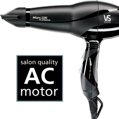 Milano 2200 AC Professional Dryer VSP6614A Top hairdressers love Italian dryers because of their powerful AC motor and durable design. This professional AC dryer is designed and made in Italy to true professional  standards. RRP $102.95