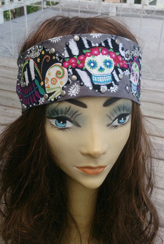 sugar skull hair styles 78 ideas about bandana headbands on pin up 2874