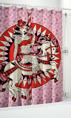 Carousel Horse Shower Curtain by Sourpuss Clothing