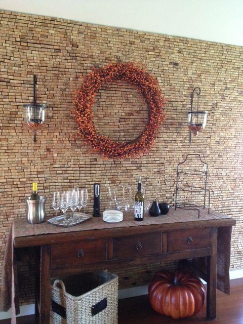 gorgeous cork wall!