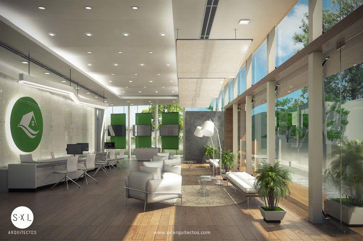 Sala de ventas diseño interior.
