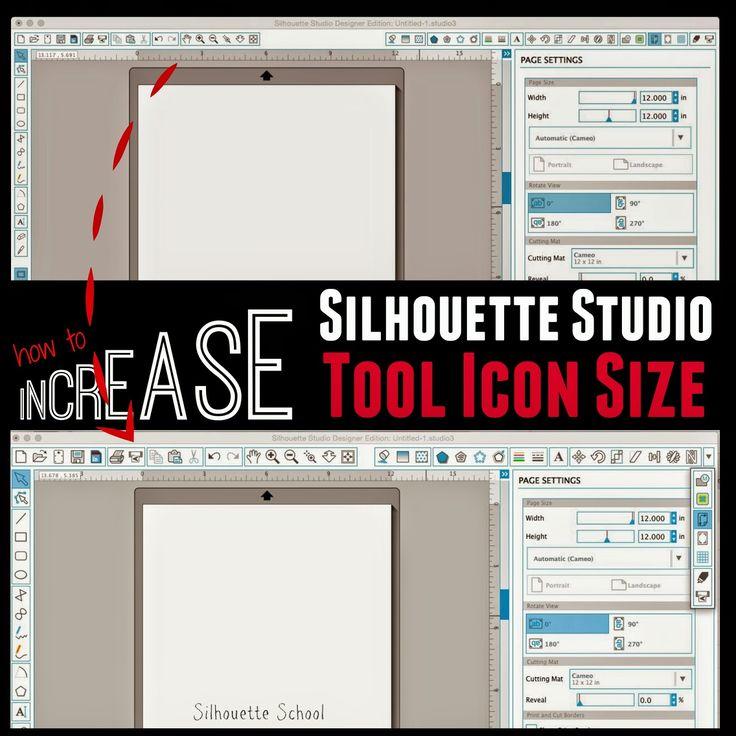 Increasing the Silhouette Studio Tool Icon Size ~ Silhouette School