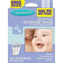 Lansinoh T Milk Storage Bags 50 Count Laboratorie Babies