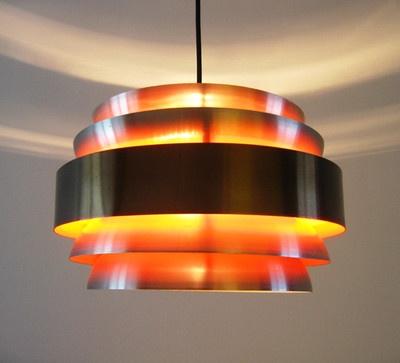 '60s-'70s Danish modernist hanging lamp --space age   I   Eames Fog & Morup era