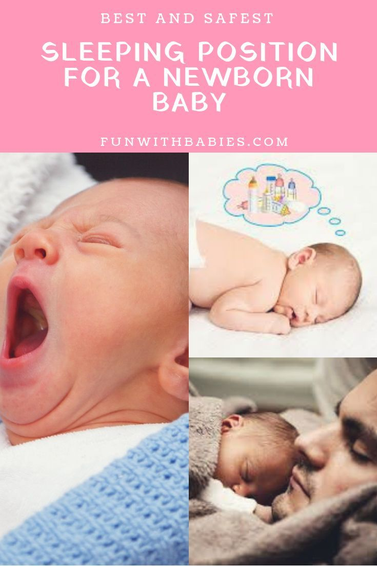 Best And Safest Sleeping Position For A Newborn Baby Funwithbabies Com Newborn Baby Sleep Newborn Baby Care Baby Sleeping Positions