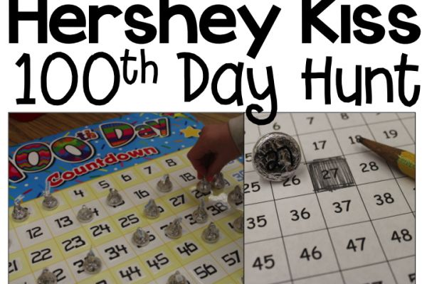 100th Day Hershey Kiss Hunt | KinderLand Collaborative | Pinterest