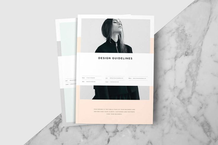 The Studio Guidelines template is a 60 page Design Guidelines Indesign template available in both A4 and US letter sizes. It is thorough and finished to a very high standard.