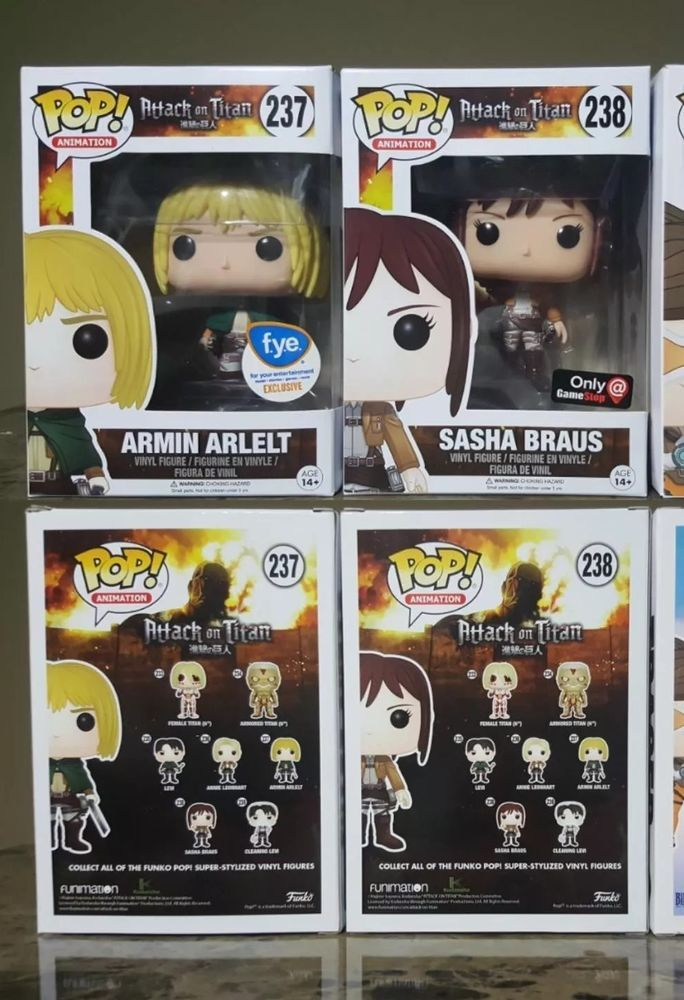 Funko POP Attack on Titan Armin Sasha Braus FYE Gamestop