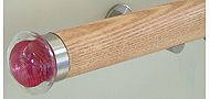Walcot House 50mm Wood Curtain Pole Natural Oak, Ellipse Ruby