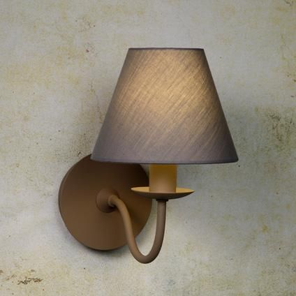 Lucide wandlicht 'Campagne' 1 x E14 taupe