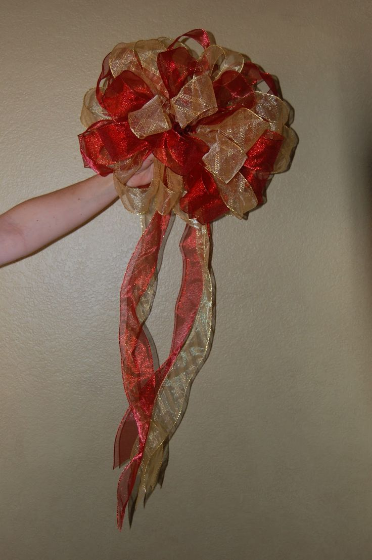 How to make beautiful bows for my tree or garland.  So happy to know how to do this!