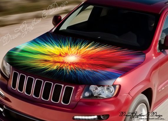 Best Car Hood And Side Decals Images On Pinterest Houses - Car decals designabstract full color graphics adhesive vinyl sticker fit any car