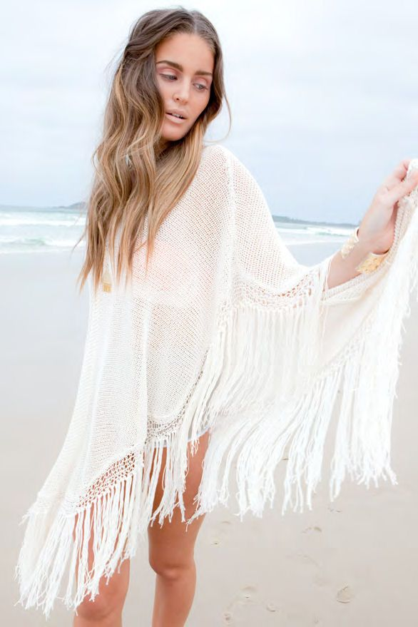 Aila Blue Byron bay pancho, Dresses, Designer Beach Cover-Ups, Resort Wear: SoleilBlue.com