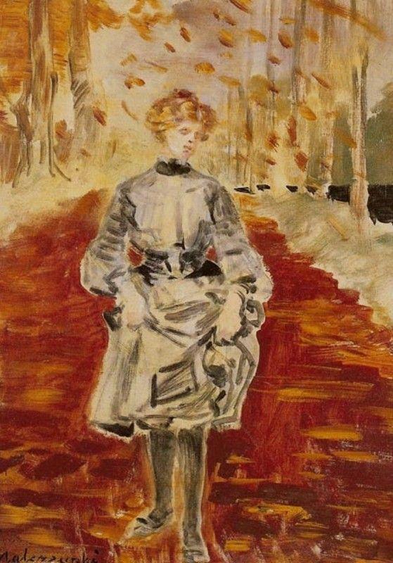 Jacek Malczewski - The Alley in Autumn