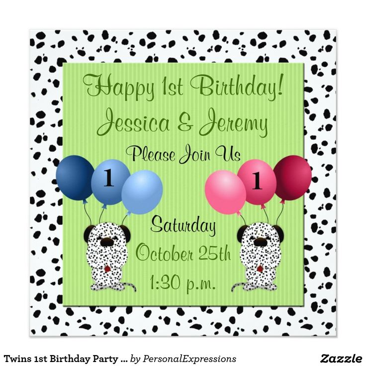 17 Best images about Twins Kids Birthday Party Invitations From – Zazzle Party Invitations