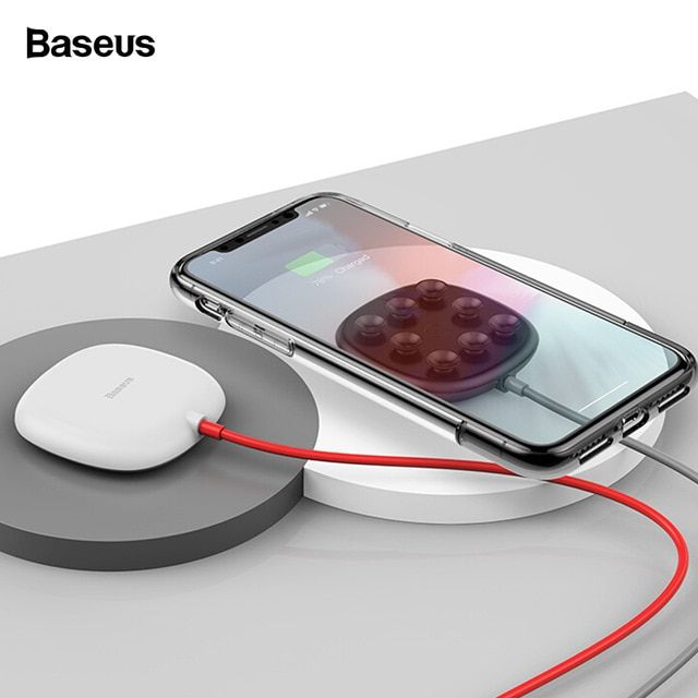 Baseus Suction Cup Wireless Charger For Iphone Xs Max Xr X Qi Wireless Charging Pad For Samsung Note 9 S9 Usb Wi Wireless Charger Wireless Charging Pad Iphone