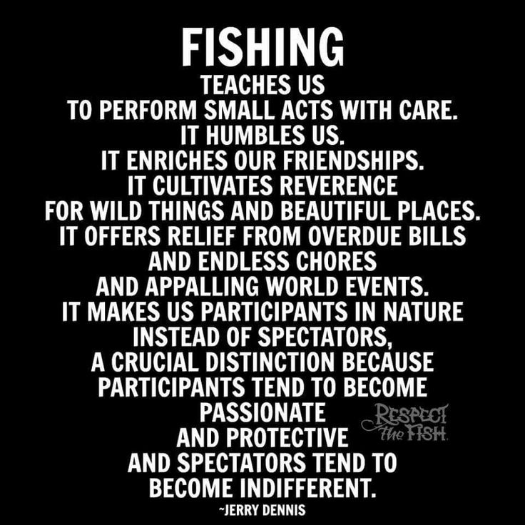 What fishing teaches us
