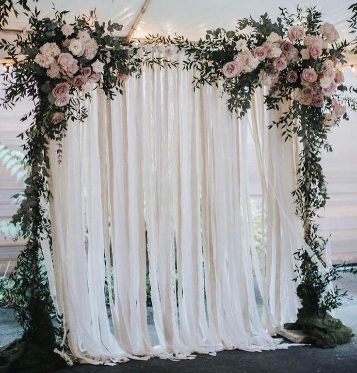 Wedding Backdrops: Dreamy Wedding Backdrop Via @foreversoles #weddingideas
