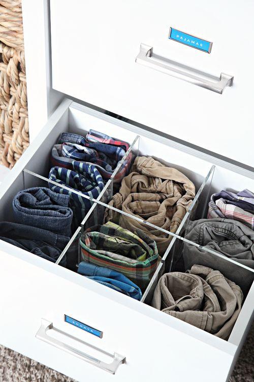 Iheart Organizzatore: Prima e Dopo: armadio camera da letto del ragazzo organizzata
