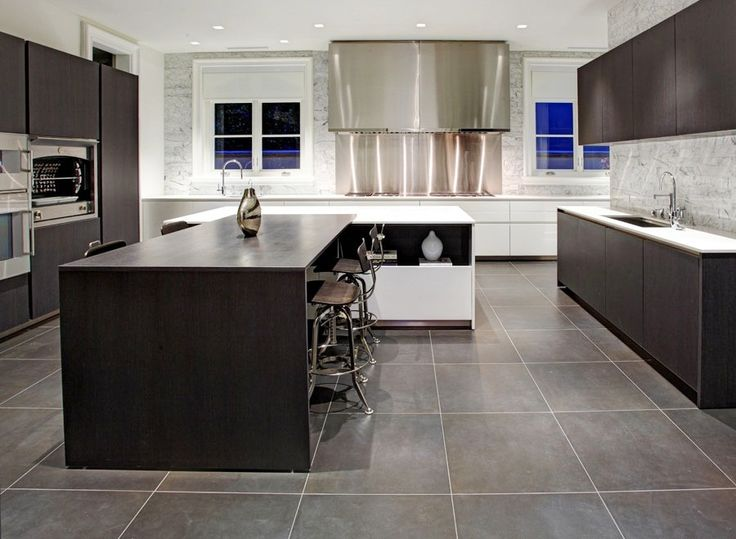 Dark Tile Floor Kitchen 20 gray floor design ideas   home design, interior decorating