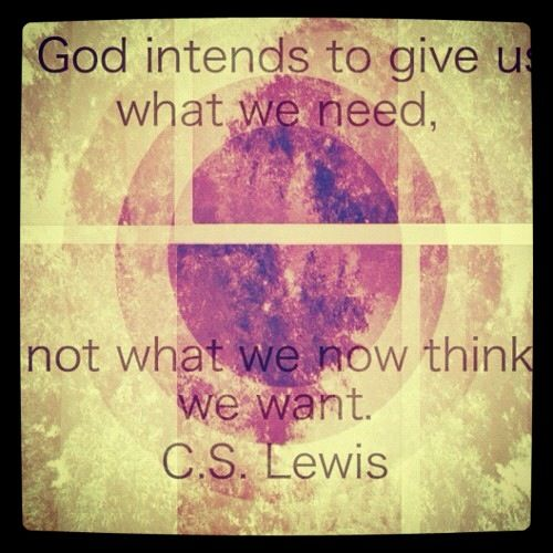 Wise words from C.S. Lewis