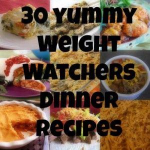 30 ~ Weight Watchers recipes