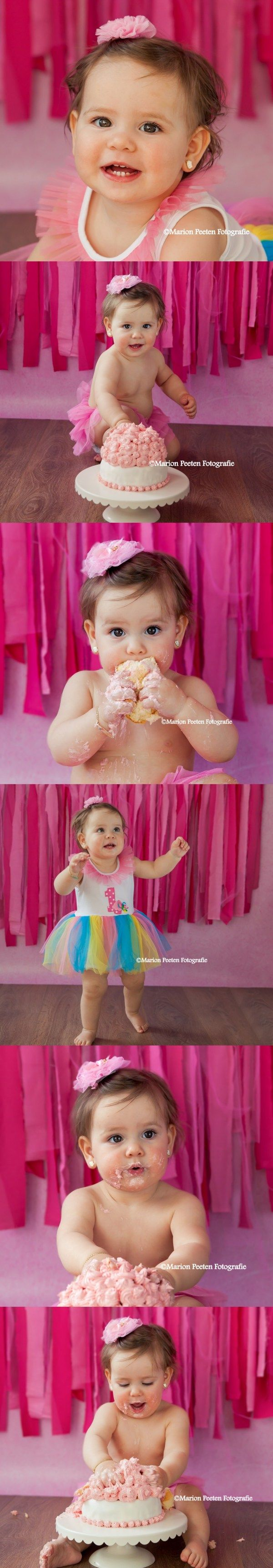 cake smash fotoshoot, verjaardag fotoshoot, birthday shoot, one year shoot,