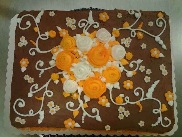 cake I did at Winn Dixie for a wedding party.  Cake Decorating ...