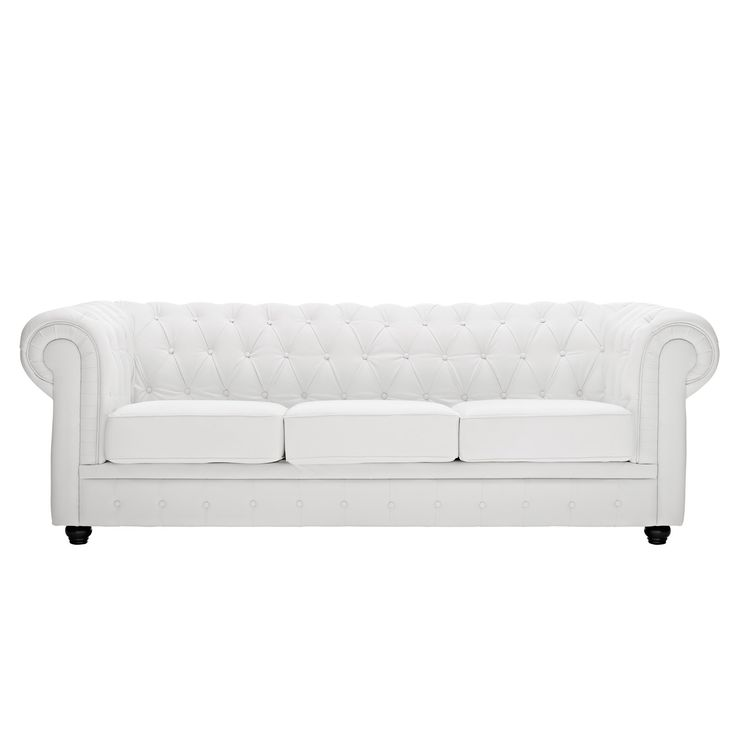 White Leather Sofa modern white leather sofa White Leather Chesterfield Sofa By Modway