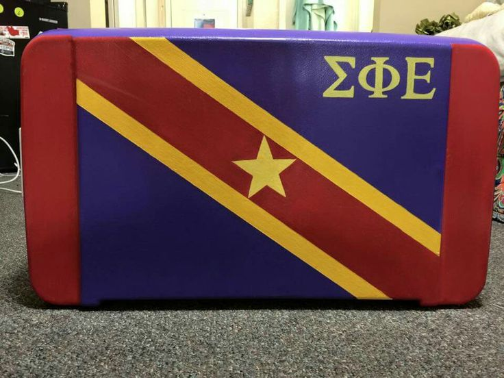 Sigma phi Epsilon ΣΦΕ sig ep fraternity flag cooler top