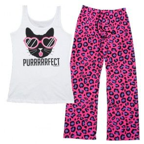Purrrrrfect Womens PJ Set