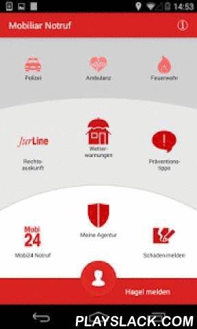 """Mobiliar Notruf  Android App - playslack.com ,  Der Mobiliar NotrufMit der Applikation """"Mobiliar Notruf"""" können Sie als unsere Kundin und unser Kunde auf direktem telefonischem Weg schnell und zuverlässig mit uns Kontakt aufnehmen und im Umfang sowie auf der Grundlage Ihres Versicherungsvertrages das Betreuungs- und Serviceangebot der Agenturen, des Call-Service-Centers Mobi24 und der juristischen Auskunft JurLine in Anspruch nehmen. Und die offiziellen Schweizer Notrufnummern sind ebenfalls…"""
