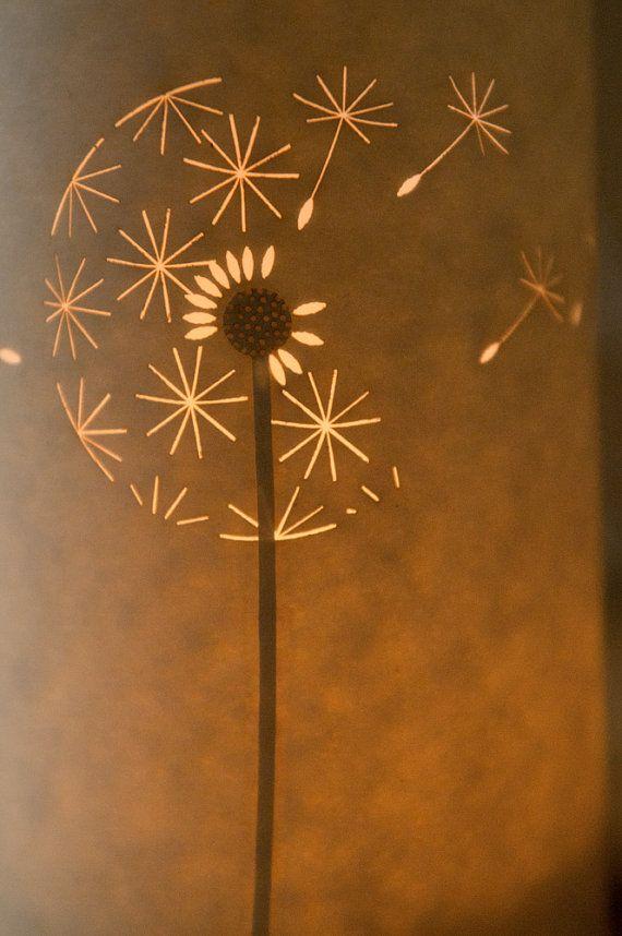Dandelion Clock Candle Light